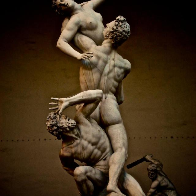 """Rape of the Sabine Women"" stock image"