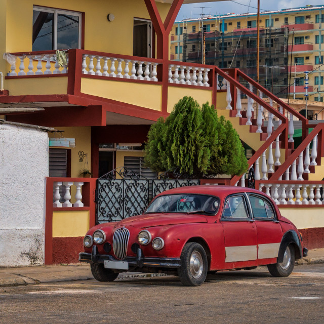 """Old red car"" stock image"