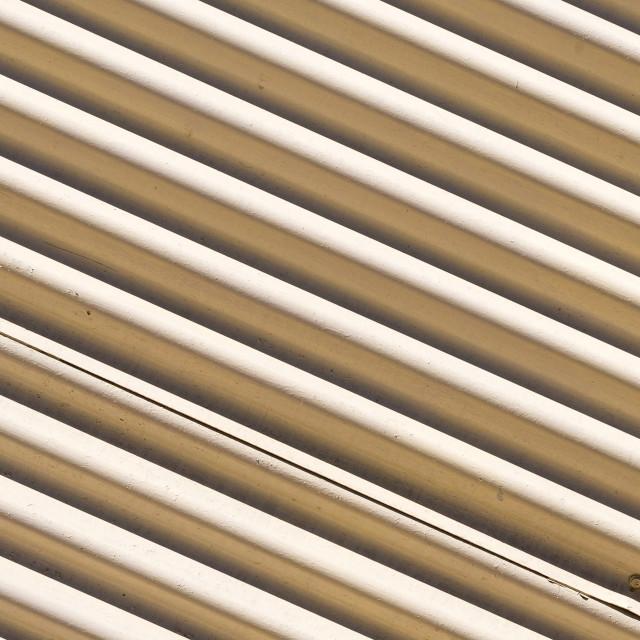 """Corrugated metal - diagonal"" stock image"