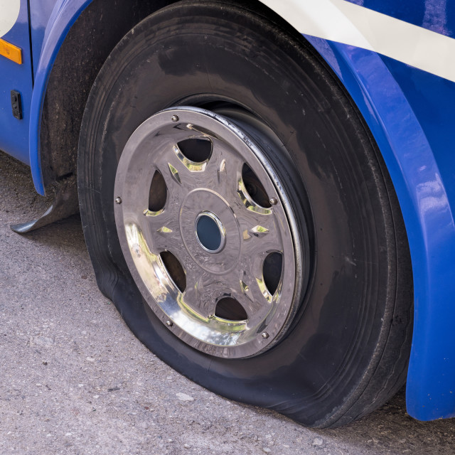 """Flat Tire"" stock image"