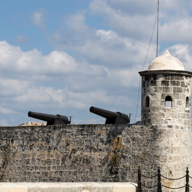 """""""Cuban cannons"""" stock image"""