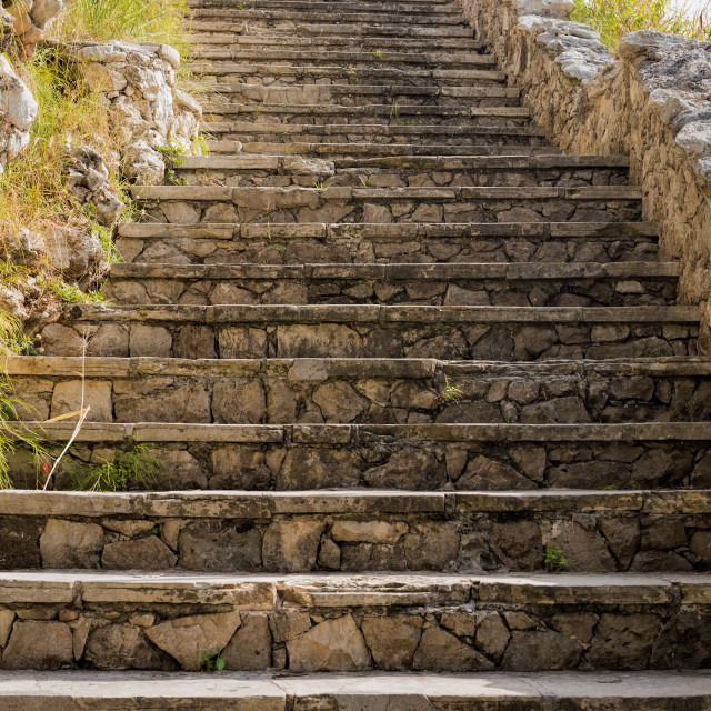 """Stone staircase"" stock image"