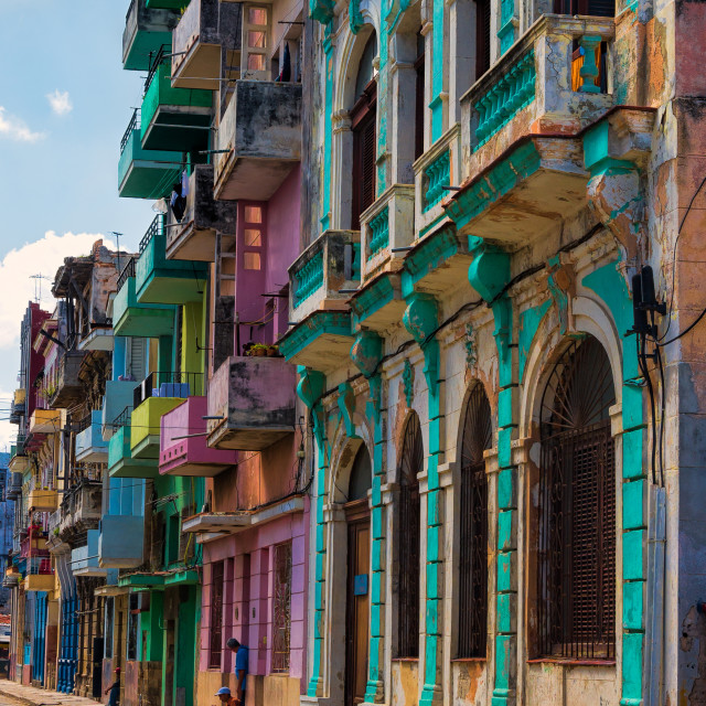 """Old colorful Havana buildings"" stock image"