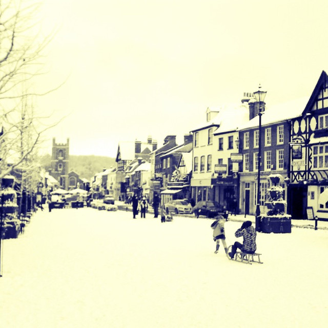 """Henley in the snow"" stock image"