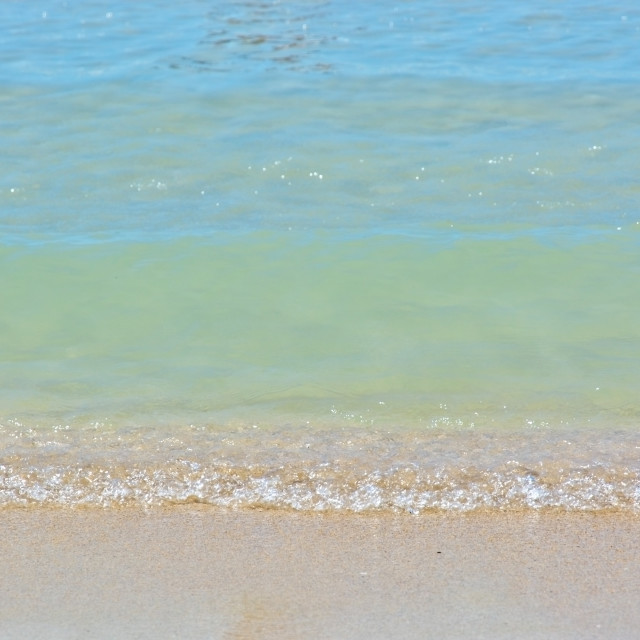 """Beach colors in sand beige and soft blue turquoise"" stock image"