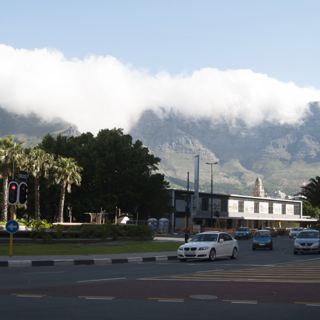 """""""Cape town and the table mountain"""" stock image"""
