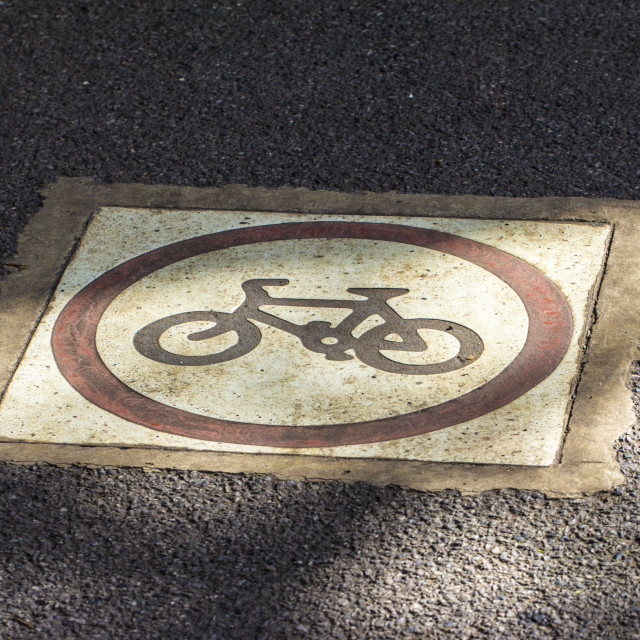 """Cycle path"" stock image"