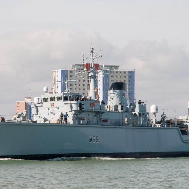 """HMS Hurworth"" stock image"