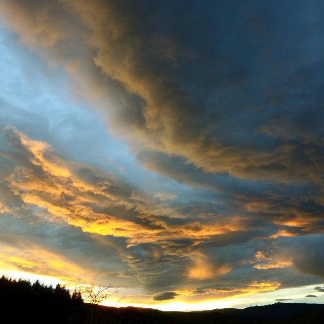 """""""sunset and clouds"""" stock image"""