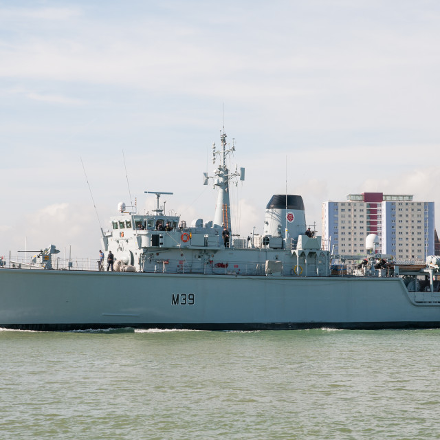 """HMS Hurworth 002"" stock image"