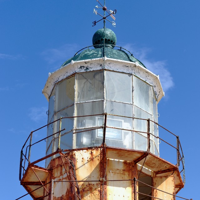 """""""The mykonian Lighthouse"""" stock image"""