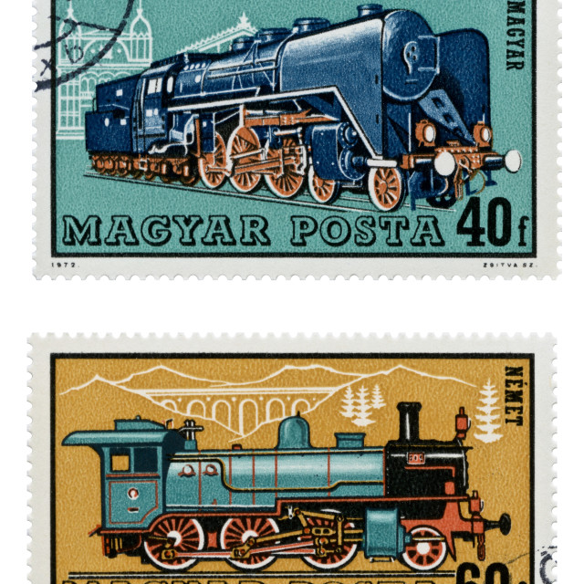"""Train Stamps"" stock image"