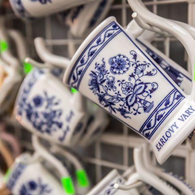 """Mug at Karlovy Vary, Czech Republic"" stock image"