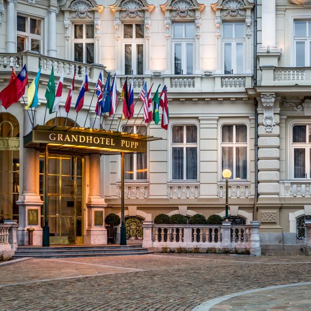 """Grandhotel Pupp, Karlovy Vary"" stock image"
