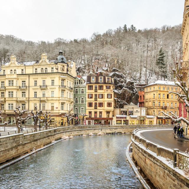 """""""Karlovy Vary, Czech Republic"""" stock image"""