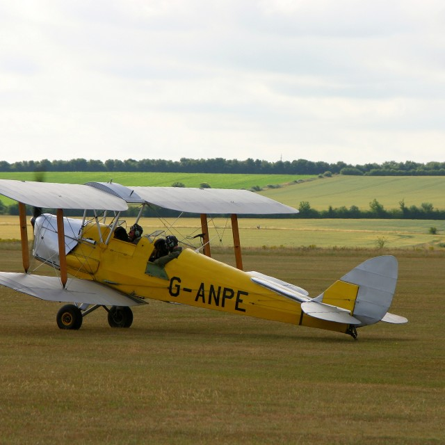 """""""DH 82a Tiger Moth G-ANPE"""" stock image"""