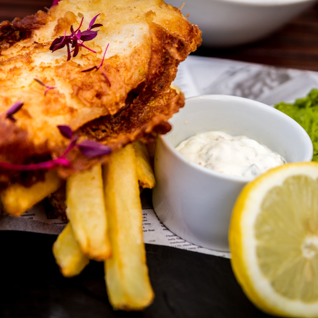 """""""Fish and chips"""" stock image"""
