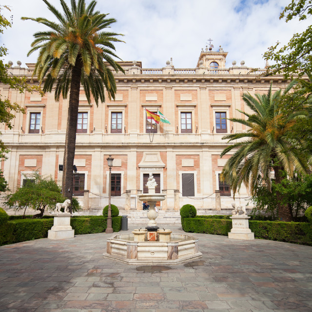 """""""General Archive of the Indies in Seville"""" stock image"""