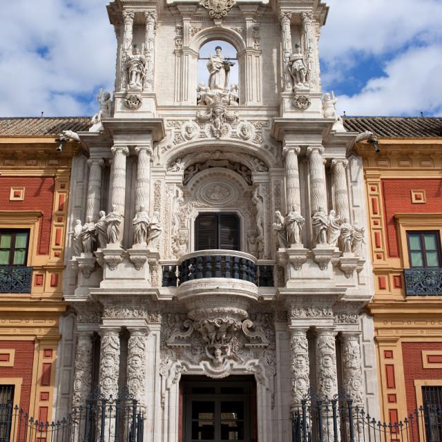 """Palace of San Telmo Baroque Portal"" stock image"