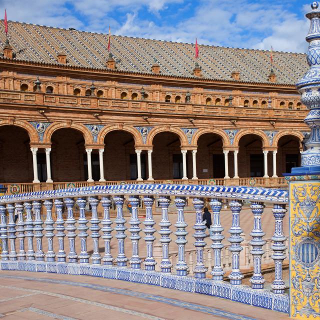 """Bridge Balustrade on Plaza de Espana"" stock image"