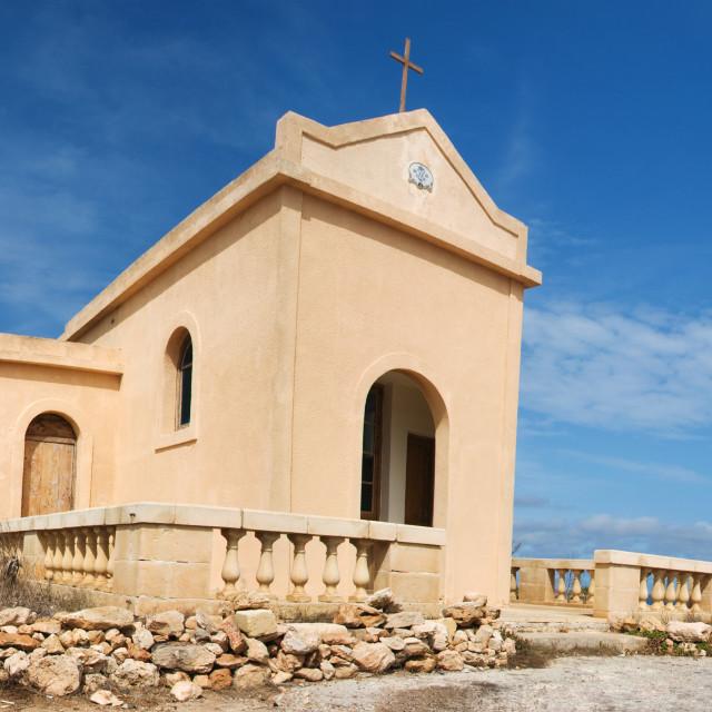 """Ahrax Chapel Panorama"" stock image"