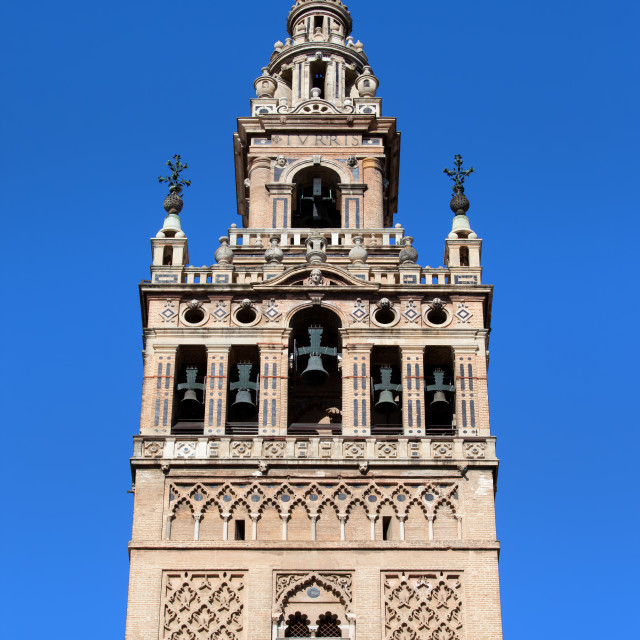 """La Giralda Bell Tower in Seville"" stock image"