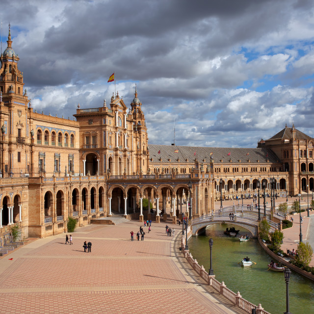 """Plaza de Espana in Seville"" stock image"