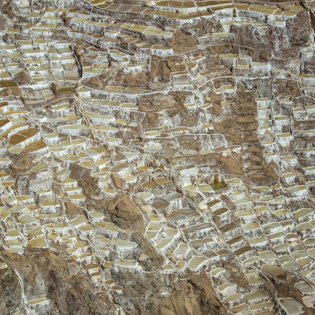 """""""Salt basins in Peru"""" stock image"""