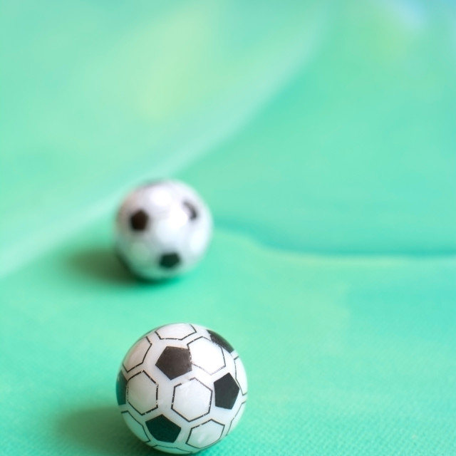 """Toy soccer footballs"" stock image"