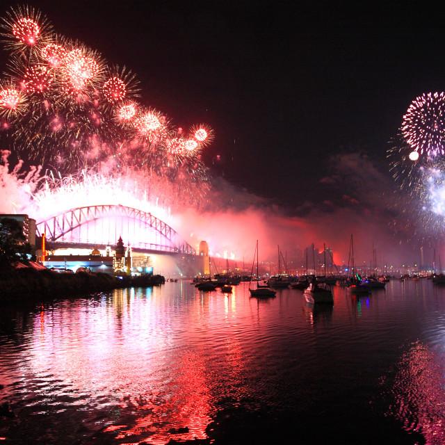 """Sydney New Year fireworks"" stock image"
