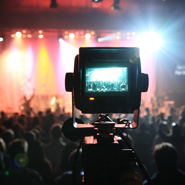 """TV camera viewfinder"" stock image"
