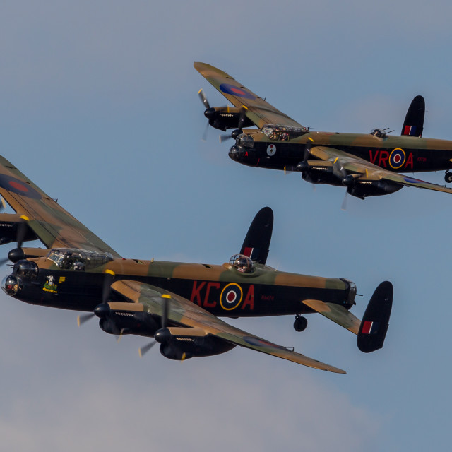 """Two Lancasters - historic"" stock image"