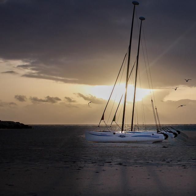 """""""Sunrise on a Yacht"""" stock image"""