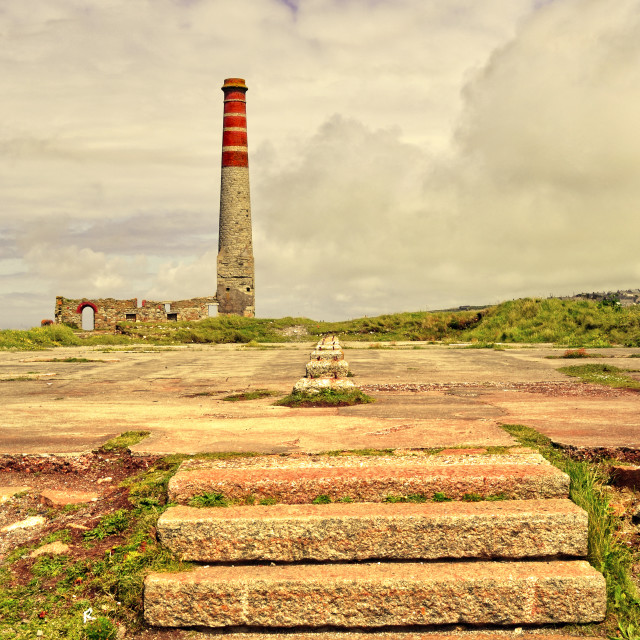 """""""Steps To A Bygone Industrial Age"""" stock image"""