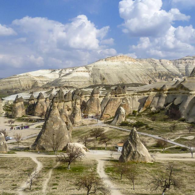 """Cappadocia landscape view. Anatolia, Goreme, Turkey"" stock image"