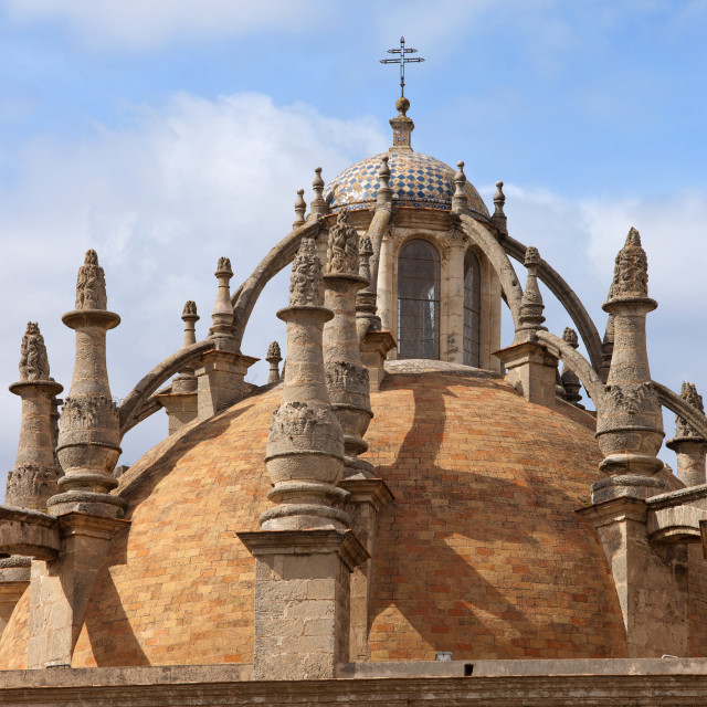 """""""Seville Cathedral Dome"""" stock image"""