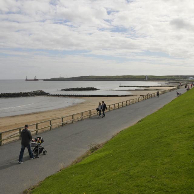 """Seafront Aberdeen Scotland"" stock image"