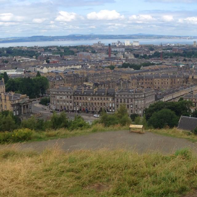 """""""Panoramic Edinburgh"""" stock image"""