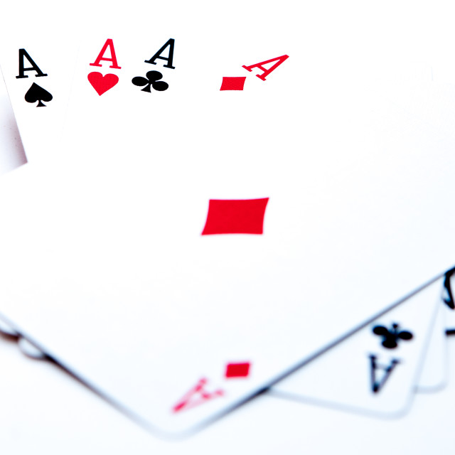 """""""Four Aces"""" stock image"""