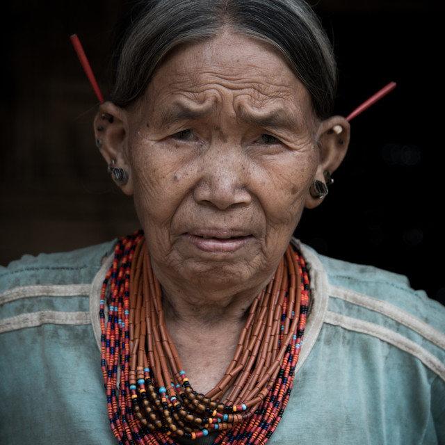 """Grandmother of Nagaland"" stock image"