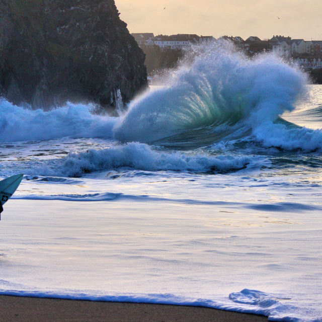 """""""'Watching The Wedge'"""" stock image"""