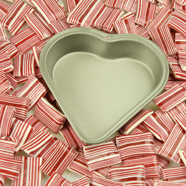 """""""Heart tin, candy"""" stock image"""