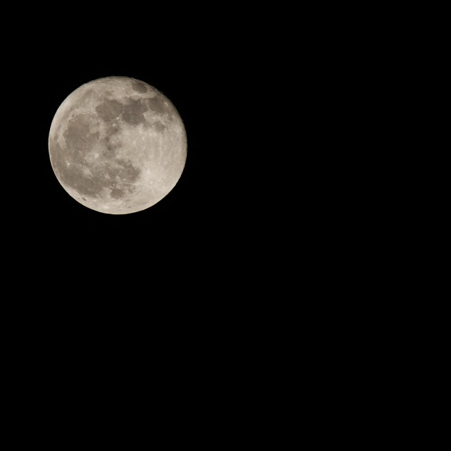 """Clear sky, full moon"" stock image"