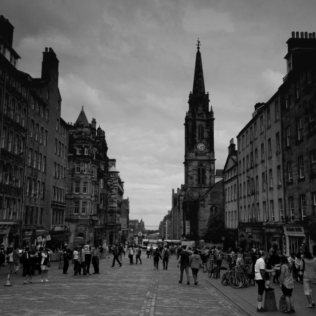 """Royal Mile Edinburgh"" stock image"
