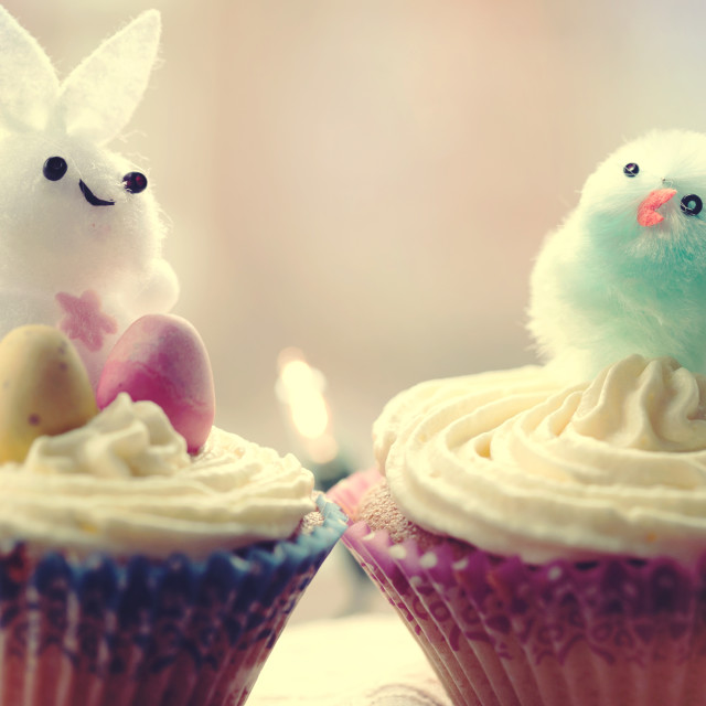 """Easter cupcakes"" stock image"