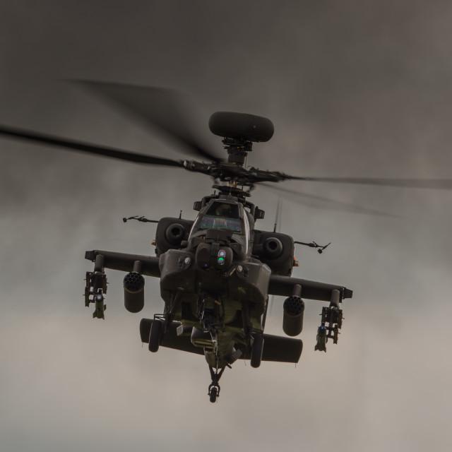 """Apache - Waddington Airshow"" stock image"