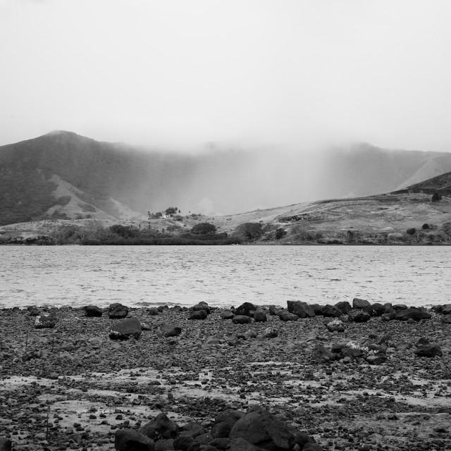 """Rainfall on hills"" stock image"