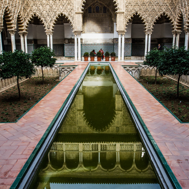 """""""Reflections in Seville"""" stock image"""