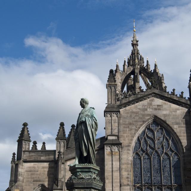 """Royal Mile Edinburgh Scotland"" stock image"