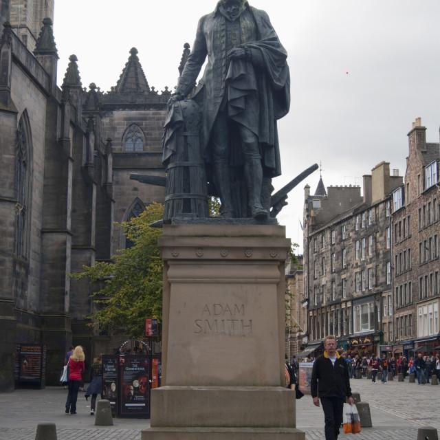 """Adam Smith Statue"" stock image"